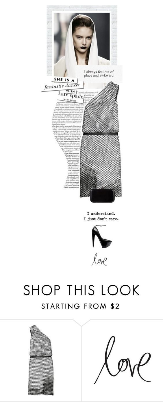 """""""Untitled #1065"""" by eve-angermayer ❤ liked on Polyvore featuring Kate Spade, Dion Lee, Theyskens' Theory, Verali, black, Silver, NewYearsEve, eveangermayer and angermayerevelin"""