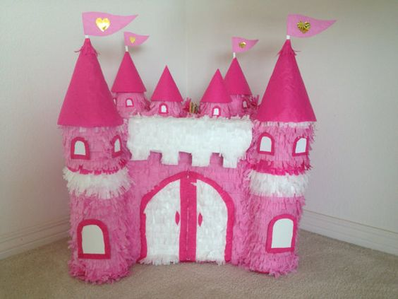 Princess Castle Hand Made Custom Pinata princess bitrhday decoration disney princess princess party pinata on Etsy. Www Facebook.com/angelaspinatas: