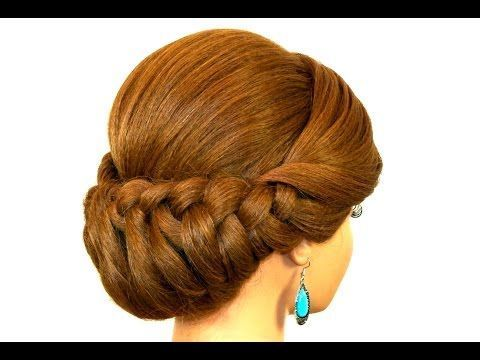 Holiday Braided Updo Hairstyle For Medium Long Hair Thanksgiving Hairstyle Youtube Braided Hair Hai Hair Styles Long Hair Styles Braided Hairstyles Updo