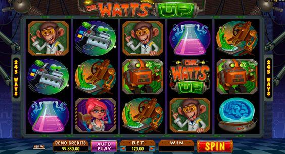 Huhu. Das ist Dr. Watts up! lass alle exprodieren und spiele kostenlos das spannendes Dr. Watts up Automatenspiel von Microgaming!