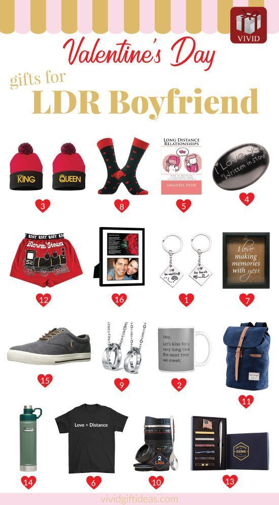 16 Romantic Valentine S Day Gifts For Your Long Distance Boyfriend Valentine Gifts Valentines Gifts For Boyfriend Best Valentine Gift