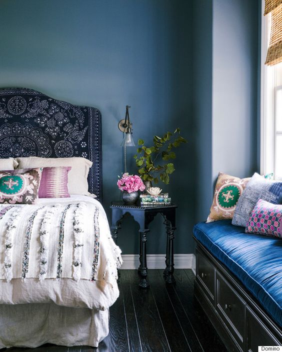 Painting your bedroom blue will improve your sleep and make your room feel bigger