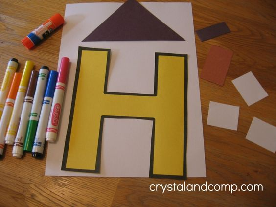 H is for House: A Letter of the Week Preschool Craft- printable