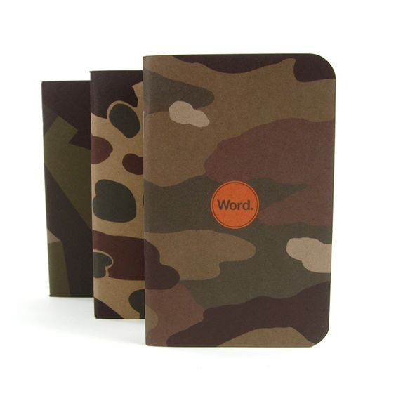 Word Camo Notebooks 3 pack Mollyjoggger