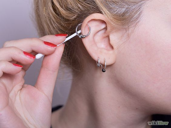 Clean a Cartilage Piercing - wikiHow