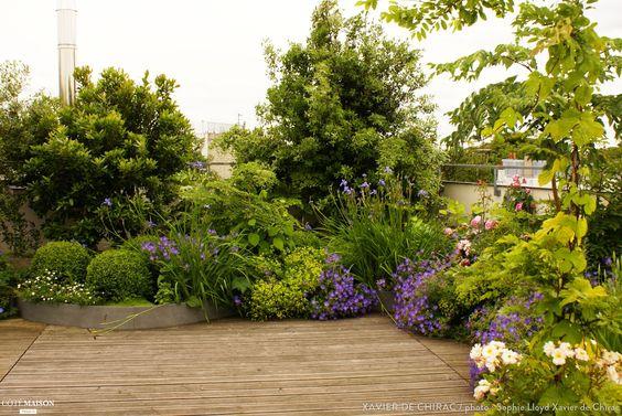 Cr ation d 39 une terrasse champ tre xavier de chirac c t for Jardin xavier de chirac