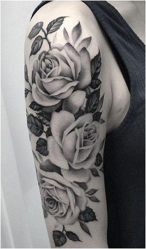 Tattoos Lower Stomach Jasmine Tattoo Artist Upper Arm Wrap Around Tattoos Cherry Blos White Rose Tattoos Arm Sleeve Tattoos For Women Rose Tattoos For Women
