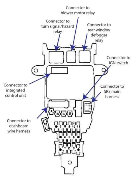 92 Honda Accord Engine Wiring Diagram And Fuse Box Honda Accord Wiring Diagram In 2020 Honda Accord Automotive Repair Diagram