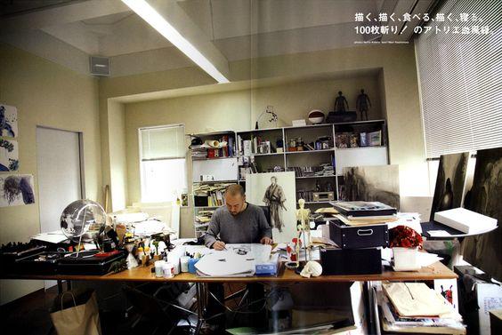 Takehiko Inoue, creator of Slam Dunk and Vagabond.