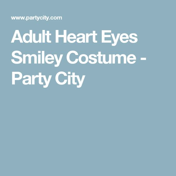 Adult Heart Eyes Smiley Costume - Party City