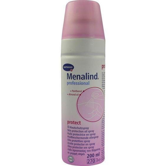 MENALIND Professional Protect OEl-Hautschutzspray:   Packungsinhalt: 200 ml Spray PZN: 08805223 Hersteller: PAUL HARTMANN AG Preis: 8,05…