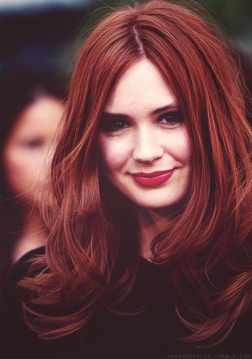 Speaking, karen gillan red hair