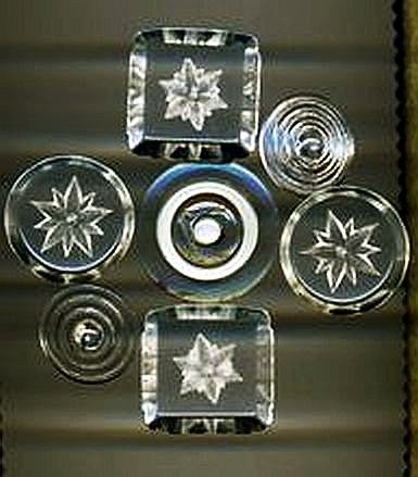 Carved Clear Lucite Buttons