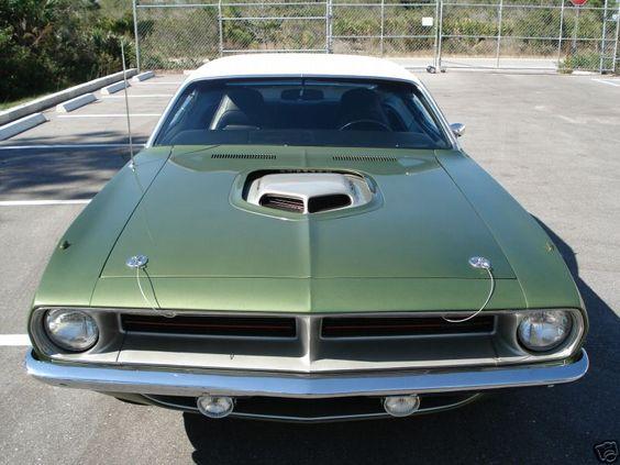 Plymouth HemiCuda green 1970 17