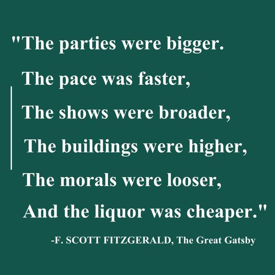 the society of the roaring twenties in the great gatsby by f scott fitzgerald The great gatsby is probably f scott fitzgerald's greatest novel--a book that offers damning and insightful views of the american nouveau riche in the 1920s.