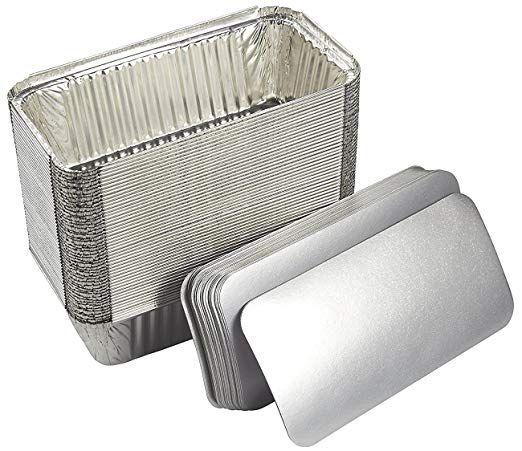 Amazon Com Aluminum Foil Pans 50 Piece Loaf Pans With Lids