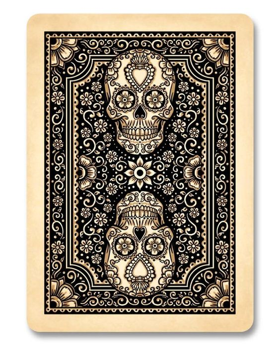 the type of design of playing cards Dia de Los Muertos