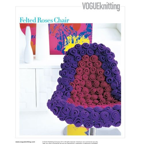 FELTED ROSES CHAIR