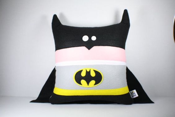 Batman Pillow-Home Decor-Throw Pillow-Travel Pillow-Fun-Superhero-DC Comics-Hero-Character Pillow-Geek-Nerd-Comic Book-Gotham-Fun-