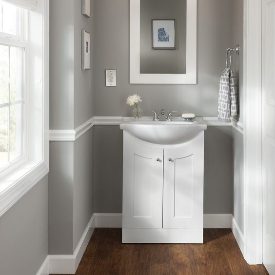 Shop Style Selections Euro Style White Belly Bowl Single Sink Bathroom  Vanity with Vitreous China Top