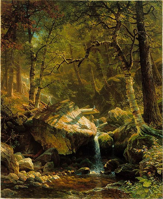 Albert Bierstadt, Mountain Brook, 1863