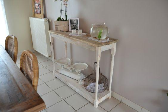 console, meuble en bois de palette  Inspiration  Pinterest  Consoles -> Console Palette