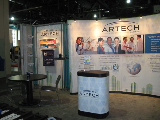 Artech's booth at the trade show