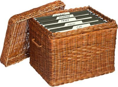 Wicker File Box At The Vermont Country Store Decor Organization Pinterest Home The O
