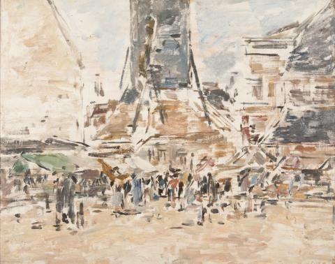 OTH 855 - Eugène Boudin, Honfleur, le clocher Sainte-Catherine