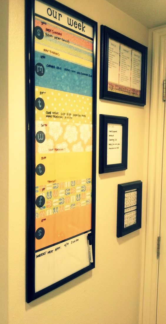 Weekly Calendar Board : Musings of a stay at home mom diy wedding gift ideas