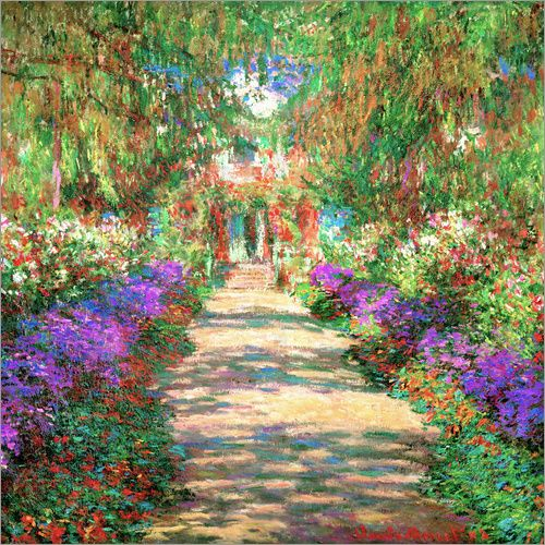 Claude Monet Weg In Monets Garten In Giverny Monet Garten Impressionismus Monet