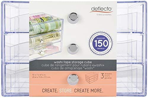Amazon Com Deflecto 3 Transparent Storage Cube Drawer Organizer 7 X 10 X 6 8 Clear Kitchen Dining In 2020 Cube Storage Cube Drawers Sewing Supplies Storage