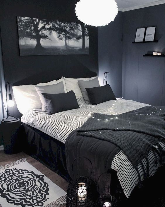 22 Gray Bedroom Ideas Blue Bedroom Design Bedroom Interior Bedroom Design