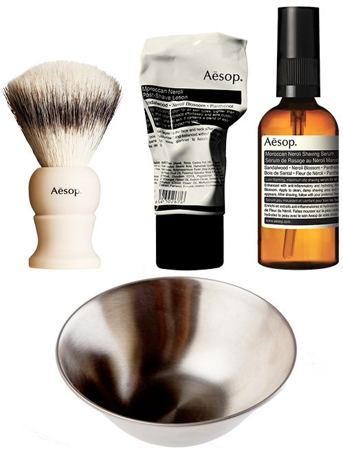 La gamme de rasage traditionnel Aesop Rasoir traditionnel Aésop cadeau Saint Valentin grooming homme à l'ancienne