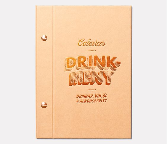 Calexicos drink menu by Snask