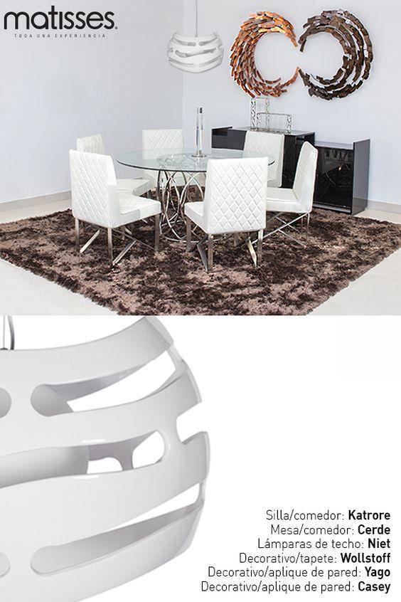 Experiencia Matisses: combina texturas para darle acentos decorativos a un lugar; si deseas remodelar el comedor del hogar esta sería una excelente opción.