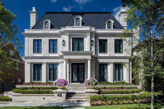 Stucco French Home With Balcony, Transitional, Home Exterior | Home  Exteriors | Pinterest | Balconies, Exterior And House