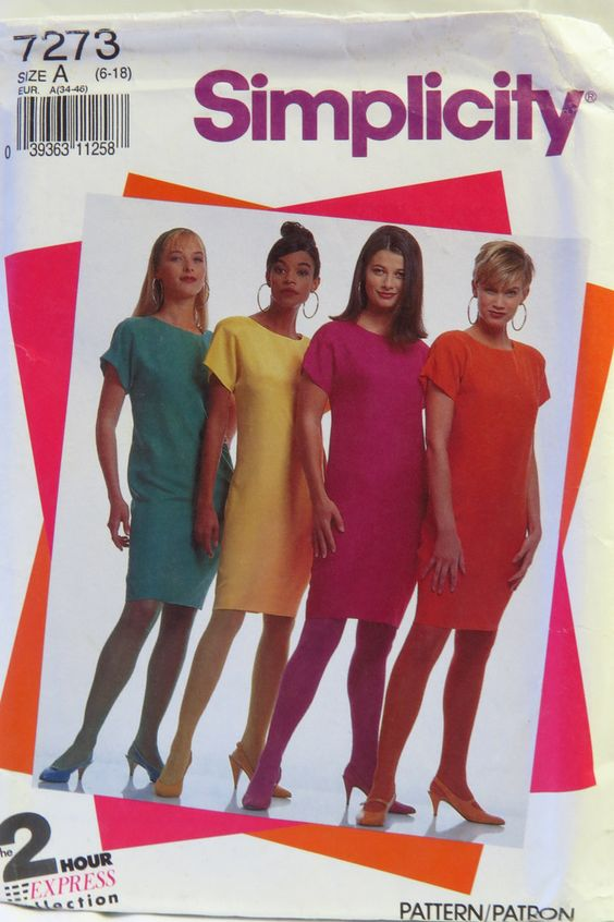 Simplicity 7273 Misses' and Miss Petite Shift