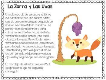 Fables pack in spanish paquete de fabulas en espanol