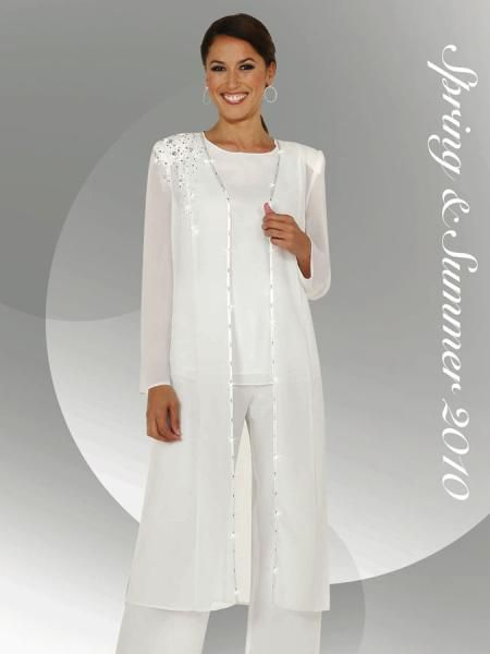 Wedding pantsuit with long jacket bridal pants suits for Womens dress jacket wedding