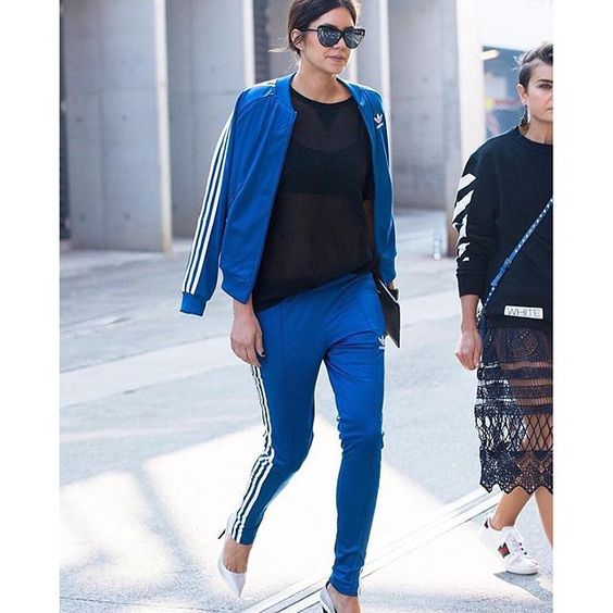 #athleisurewear goals!!! Via @stylerunner who knew a track suit could look so…