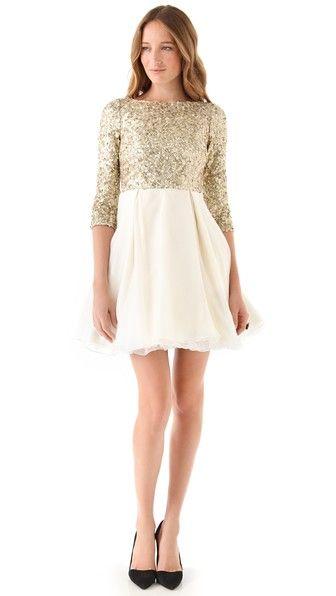 Alice + Olivia Azala Sequined Dress