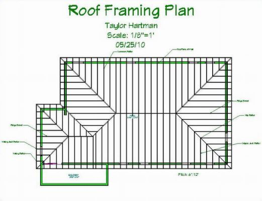 Types Of Roof Construction 1 Residential Roof Framing Plan 691 X 530 Jpg Roof Framing Roof Construction Hip Roof Design