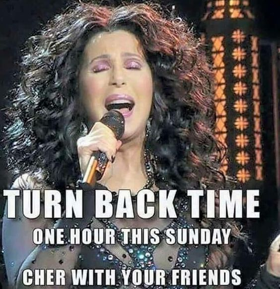 Don't forget! Clocks go back this weekend!  PLEASE CHER  #belfast #uk #funny #cher #clocks #winter #share #instagood