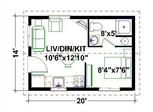 Very Tiny Houses Floor Plans One Bedroom Homes Wincrief Homes Tiny House Floor Plans Tiny House Plans House Floor Plans