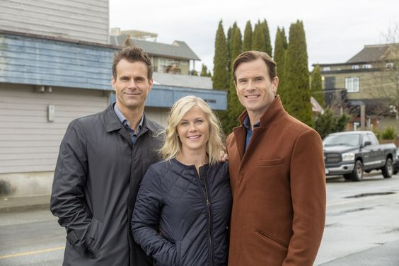 Hannah and her Beaus, Norman and Mike from Murder She Baked: A Deadly Recipe.