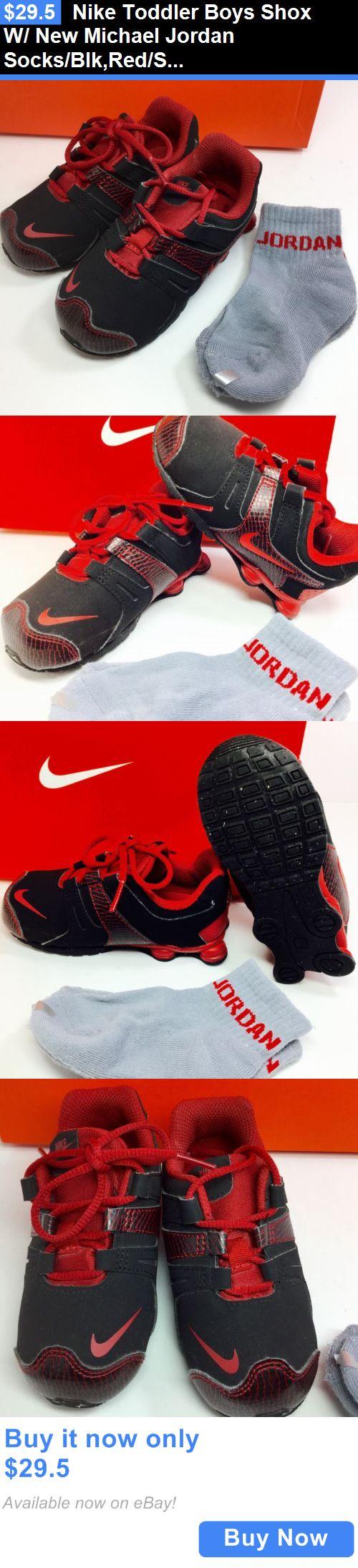 Michael Jordan Baby Clothing: Nike Toddler Boys Shox W/ New Michael Jordan Socks/Blk,Red/Size 8C/ Excellent!!! BUY IT NOW ONLY: $29.5