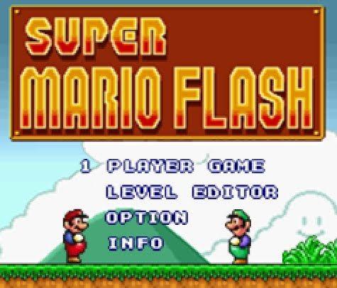 Super Mario Flash Super Mario Mario School Games