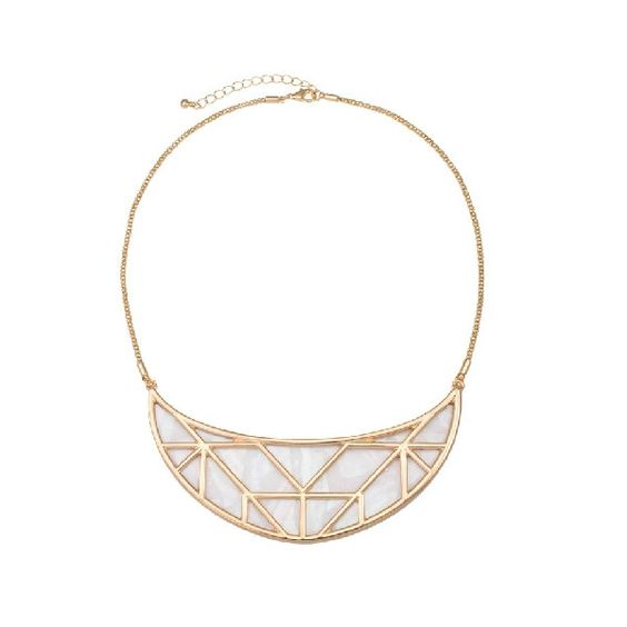 Semicircle Shell Inset Woman Collar Necklace