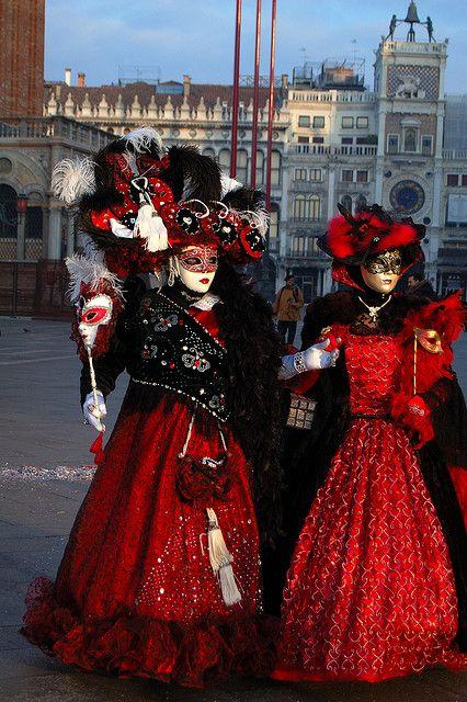 Venice - Carnevale - Piazzetta San Marco Venetian Costume